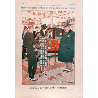 "1924 Fantasio ""Le Salon de L' Auto Moralisateur"" Print by Fabiano"