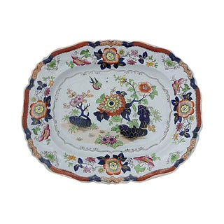 1840s Antique English Ironstone Platter