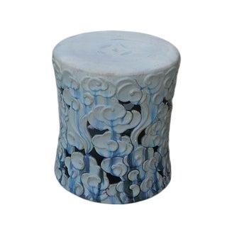 Blue Ombré Ceramic Garden Stool