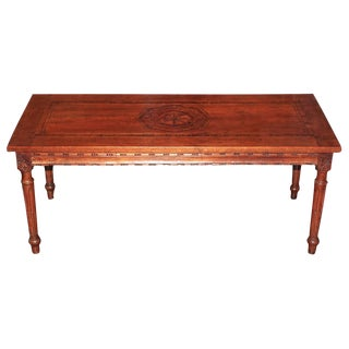Antique Walnut Inlaid Low Table
