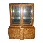 Image of Art Deco Midcentury China Cabinet Bar Display Case