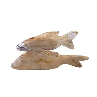 Antique Petrified Wood Fish - Set of 2