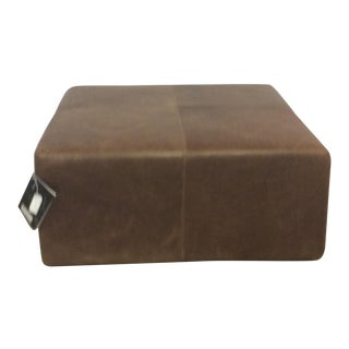 American Leather Large Ottoman