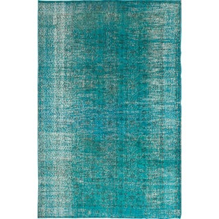 "Blue/Green Overdyed Rug - 6'5"" x 10'"
