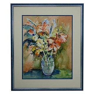 'Fleur Oranges' Original Painting by Annie Viatre