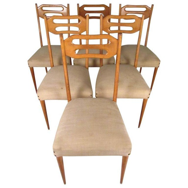 Sculptural Italian Modern Dining Chairs - Set of 6 - Image 10 of 10