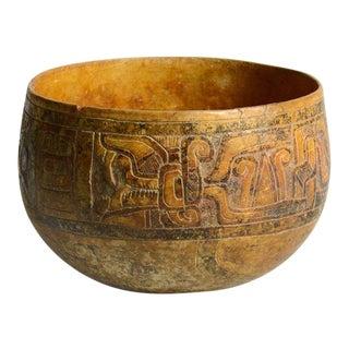 Mayan Carved Bowl
