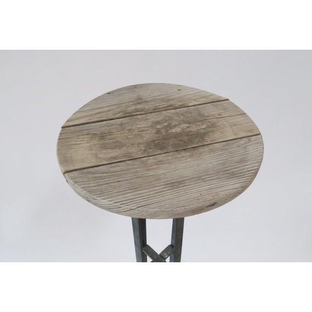 Vintage Wood & Metal Plant Stand - Image 3 of 6