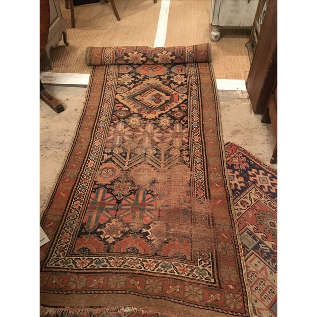 Image of Antique Earth Tones Runner - 3' X 15'