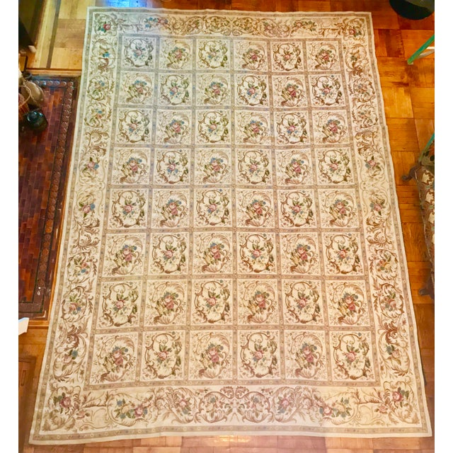 French Aubusson Needlepoint Rug - 8′6″ × 11′6″ - Image 3 of 11