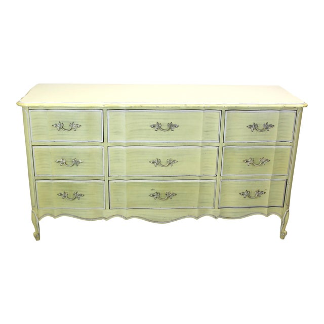Mid Century Canary Yellow Dresser - Image 1 of 4