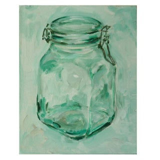 Small Acrylic Painting - Hinged Jar II