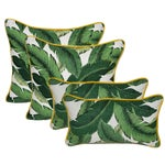 Green Swaying Palms Pillows - Set of 4