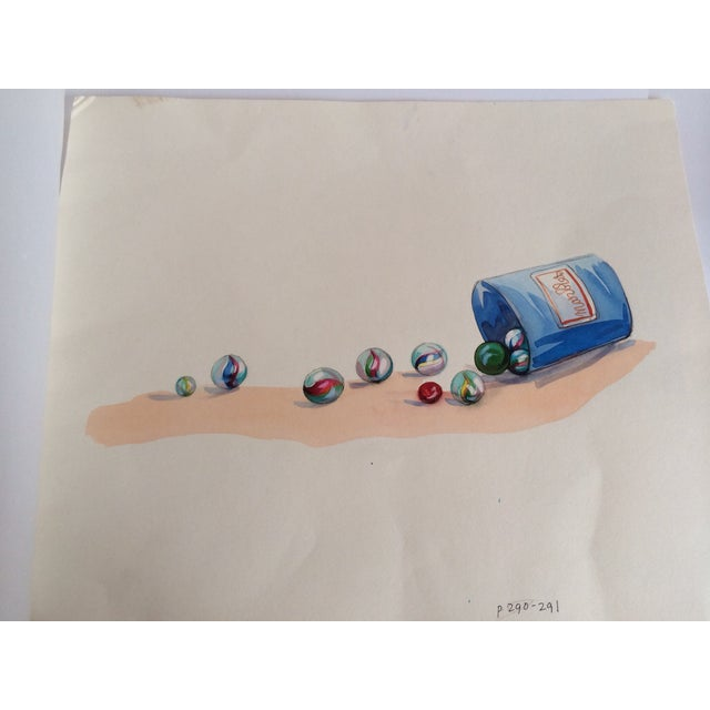 Image of Watercolor Marbles Advertising Lithograph