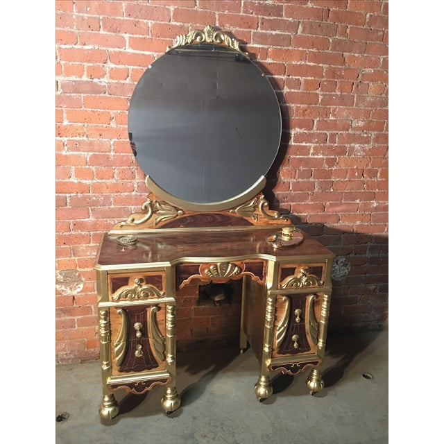 1920s Art Deco Vanity Table with Seat - Image 2 of 10