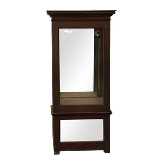 Wooden Cabinet With Mirrored Bottom