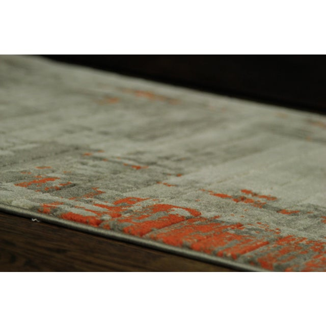 Contemporary Abstract Orange Rug - 2'8''x10' - Image 4 of 5