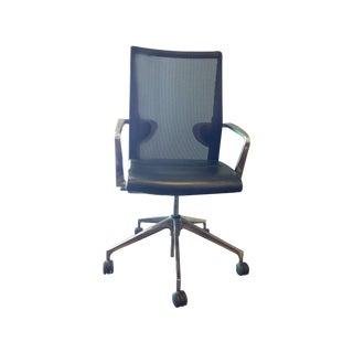 Sava Cvek Mesh Leather & Chrome Office Chair