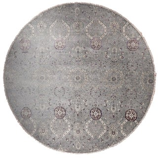 "Farahan Hand-Knotte Rug - 8'2"" Round."