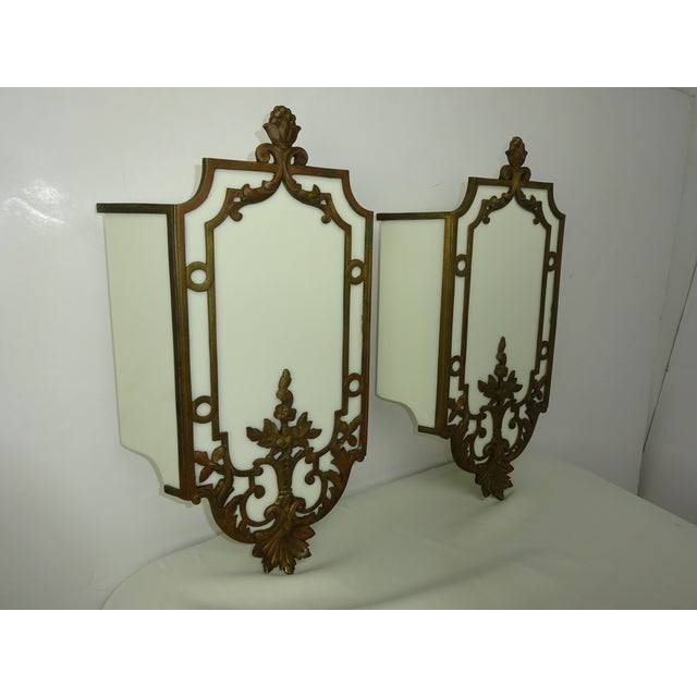 Sterling Bronze Co. Antique Deco Sconces - A Pair - Image 3 of 9