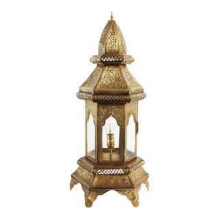 Moorish Brass Work Table/Floor Lantern