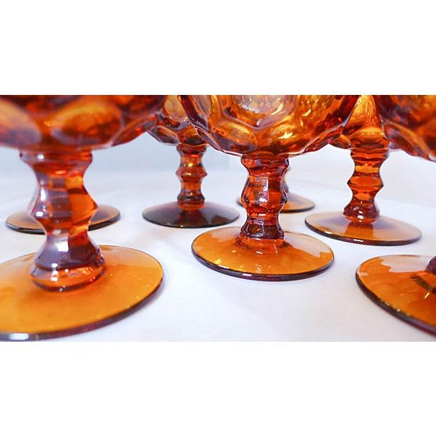 Amber Sherbet Glasses - Set of 8 - Image 6 of 6