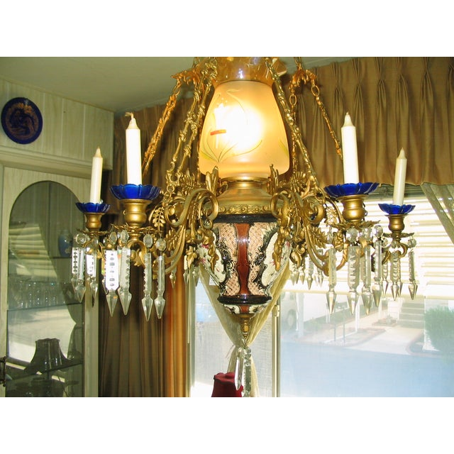 Image of French Traditional Victorian Hall Chandelier 19th Century