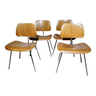 Vintage Eames Bentwood DCM Chairs by Herman Miller - S/4