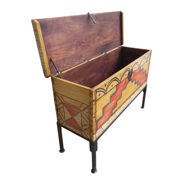 Hand Made Mexican Trunk by Carrington and Foss - Image 4 of 10
