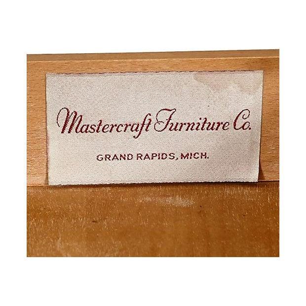 Image of Mastercraft Vintage 1960s Rolling Pecan Dry Bar