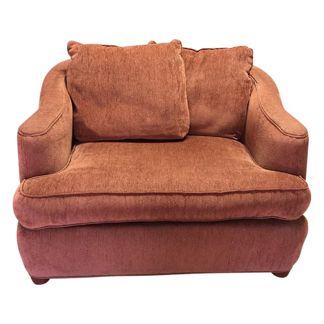 Oversized velour armchair chairish for Oversized armchair