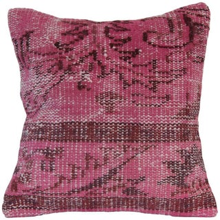 Pink Handmade Overdyed Pillow Cover