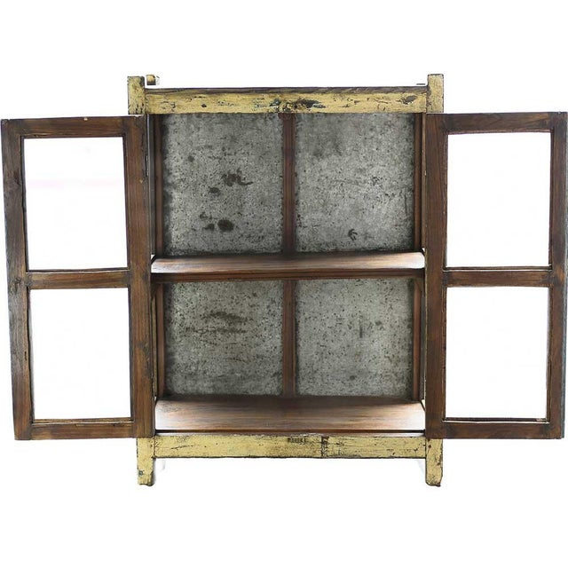 Vintage Rustic Yellow Cabinet - Image 3 of 5