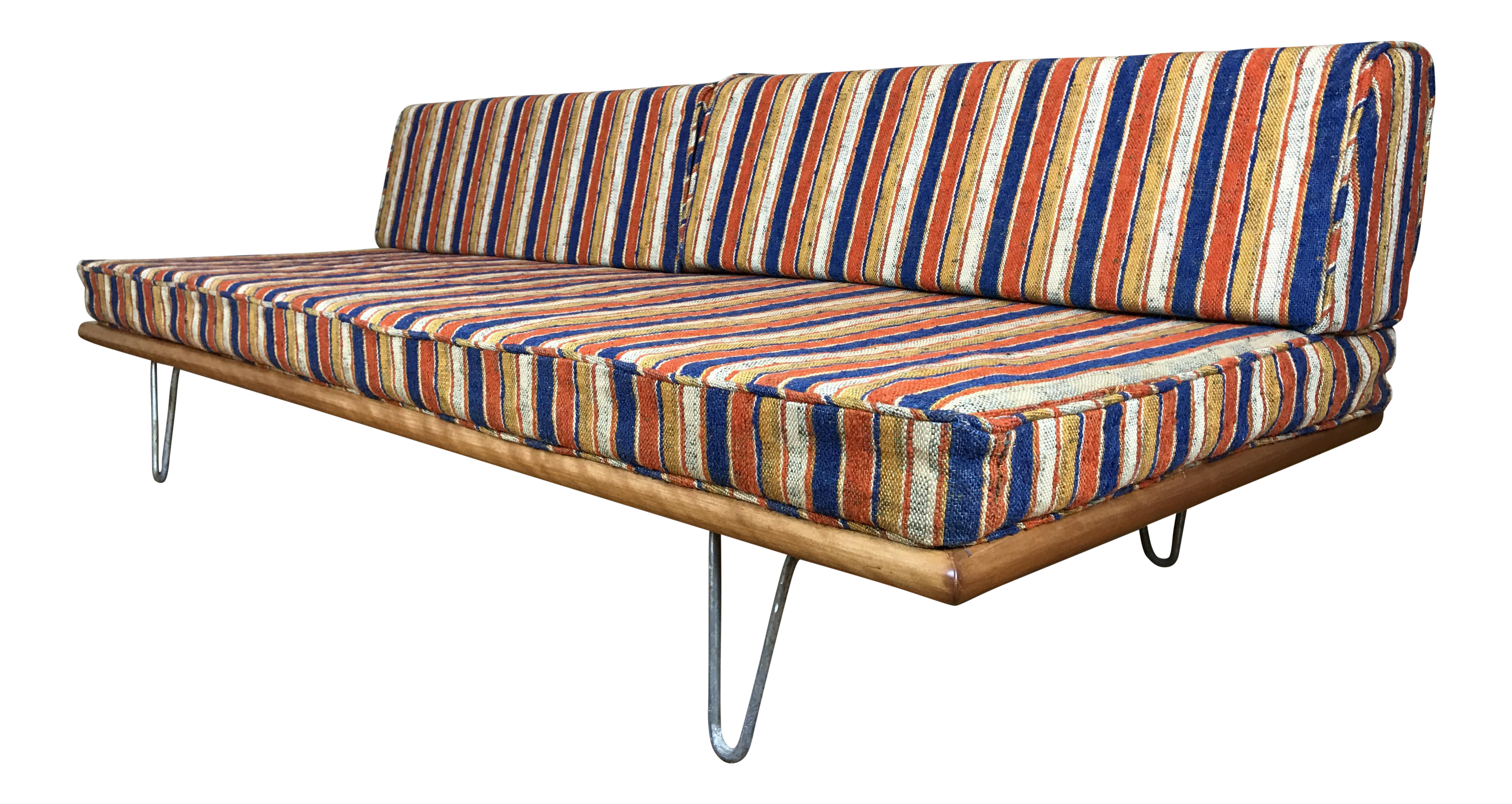 George Nelson For Herman Miller Sofa Daybed Original Alexander Girard  Upholstery   Image 1 Of 11