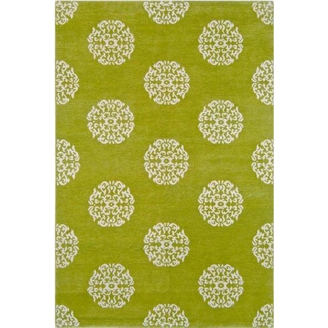 """Madeline Weinrib Green """"Mandala"""" Rug - 6' x 9' - Image 1 of 7"""
