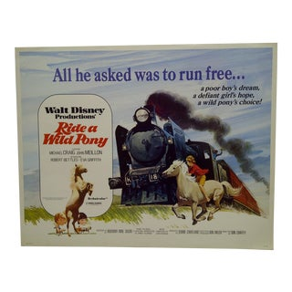 "Vintage Movie Poster Walt Disney's ""Ride a Wild Pony"" 1975"