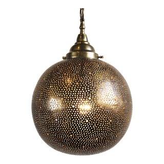 Hand Cut Brass Globe Lantern