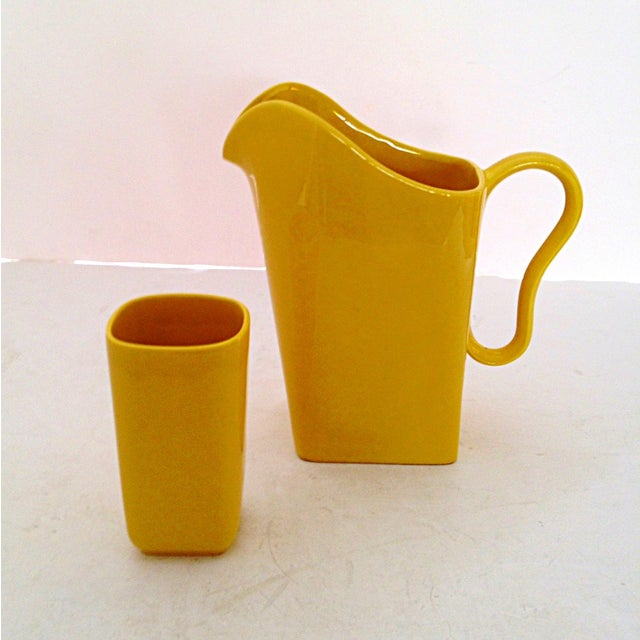 Franciscan Yellow Pitcher and Cup Set - Image 5 of 9