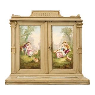 Petite Painted Antique French Louis XVI Ladies Secretary