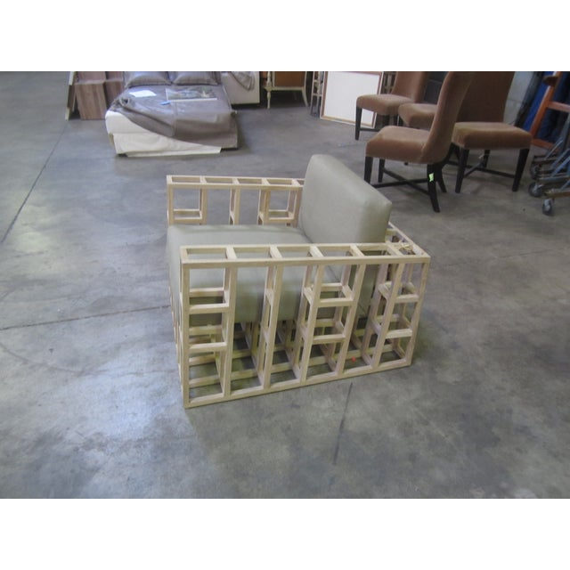 Image of Oak Grid Accent Chair