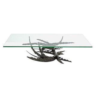 "Dan Gluck Brutalist ""Swirl"" Table"