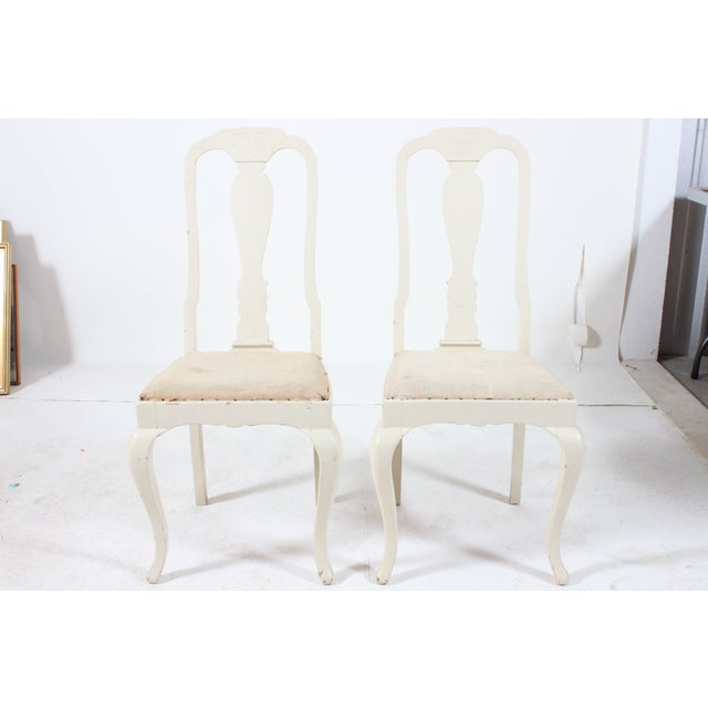 Image of French Side Chairs with Fiddle Back - A Pair