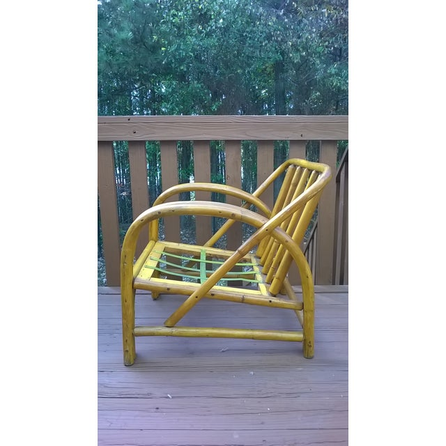 Vintage Bamboo Bentwood Rattan Chairs - A Pair - Image 6 of 10