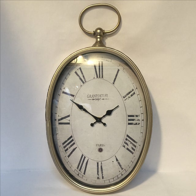 Old Style Paris Wall Clock - Image 2 of 8
