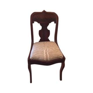 Antique Brunschwig & Fil Fabric Side Chair
