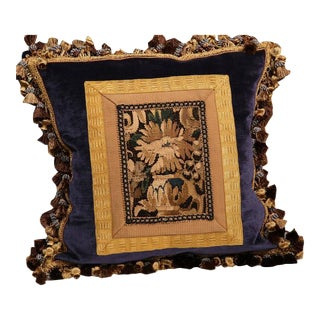 Handmade Aubusson Tapestry Pillows - Set of 3