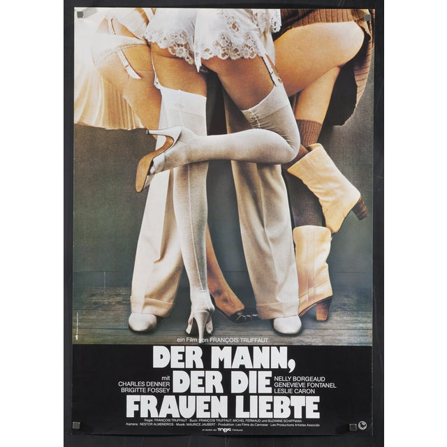 "1977 Truffaut Poster ""The Man Who Loved Women"" - Image 1 of 2"