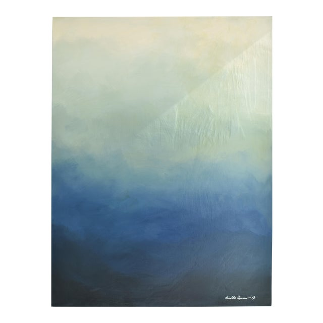 "Abstract blue Ombré - 42"" x 54"" - Image 1 of 6"