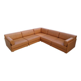 Strassle Collection Swiss Leather Modular Sectional
