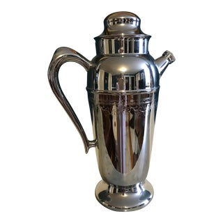 1930's Chrome Cocktail Pitcher